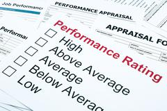 performance rating and appraisal form - stock photo
