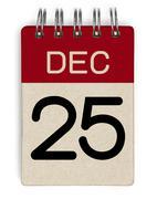 25 dec calendar Stock Illustration