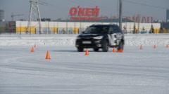 Car Subaru Test - Drive.   Stock Footage