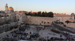 The Kotel in Jerusalem Stock Footage