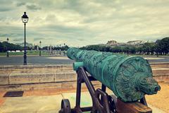 Old cannon at les invalides in paris. Stock Photos