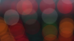 Artistic Bokeh   Flashing dots of light on a neutral background Stock Footage