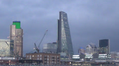 london skyline flashing 1 - stock footage
