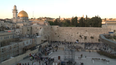 Dome of the Rock and the western wall Stock Footage