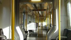 Empty London Underground Metropolitan Line Stock Footage