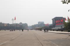 Area at the mausoleum of ho chi minh city, hanoi Stock Photos