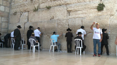 People at the Kotel Stock Footage