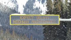 Expect Delays Winter Electronic Sign Stock Footage