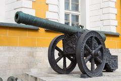 cannon in the moscow kremlin - stock photo