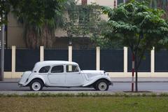 vintage car on the street - stock photo