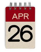Stock Photo of 26 apr calendar
