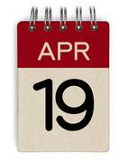 Stock Photo of 19 apr calendar