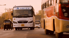 Morning Traffic in India Stock Footage