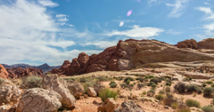 4K Rocks at Valley of Fire Time Lapse Stock Footage