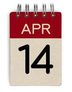 Stock Photo of 14 apr calendar