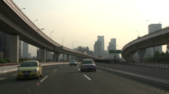 Multi lane highway Stock Footage