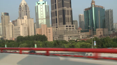 Big GV Shanghai commercial centre Stock Footage
