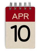 Stock Photo of 10 apr calendar