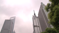 Shanghai World Financial Centre - stock footage