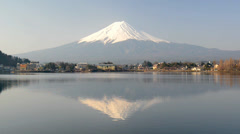 inverted image of Mt. Fuji - stock footage