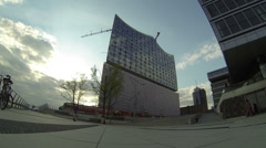 Germany - Hamburg - Elbe Philharmonic Hall Stock Footage