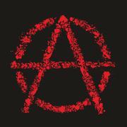 Grunge anarchy symbol , vector illustration Stock Illustration