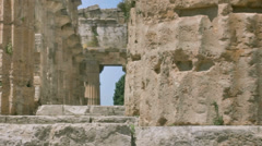 Close up Column Ancient Greek Temple HDR - 25FPS PAL Stock Footage