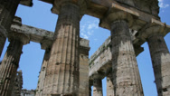 Stock Video Footage of Collumns Ancient Greek Temple Medium Low Angle - 25FPS PAL