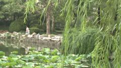 JW Marriott Hotel Shanghai and bamboo garden Stock Footage