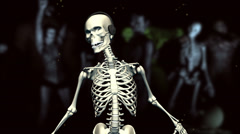 Dancing Skeleton (with monsters) Stock Footage