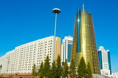 golden tower - stock photo