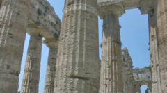 Pillars of an Ancient Greek Temple HDR - 25FPS PAL Stock Footage
