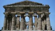 Stock Video Footage of Front View of Ancient Greek Temple - 25FPS PAL