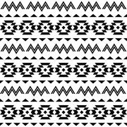 Tribal pattern, Aztec seamless background - stock illustration
