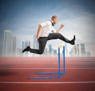 Stock Illustration of business obstacle