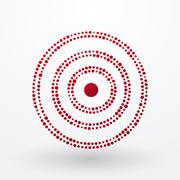 red target composed of small dots - stock illustration