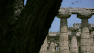 Stock Video Footage of Revealing an Ancient Greek Temple from behind a Tree - 25FPS PAL