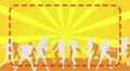 Silhouette Dancers yellow background HD Footage