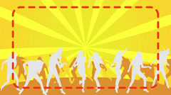 Silhouette Dancers yellow background Stock Footage