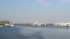 Yokohama Japan Port in 2014 Stock Footage