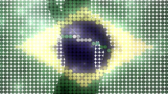 Fashion Brazilian flag sexy dancer glitter background - 1080p Stock Footage