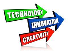 Stock Illustration of technology, innovation, creativity in arrows