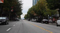 Robson st - middle of the street special angle Stock Footage