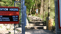 Entrance of the grouse grind hike Stock Footage