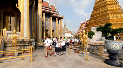 Thailand, Bangkok, School Class Visiting the Royal Palace Stock Footage