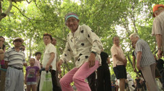 Dancing pensioner relives the 60s Stock Footage