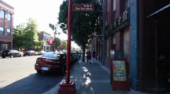 Fan tan alley entrance - victoria Stock Footage