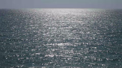 Horizon over sea water glittering waves seascape Stock Footage
