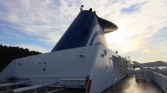 2 angles view of bc ferry Stock Footage