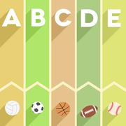 Sports infographic Stock Illustration